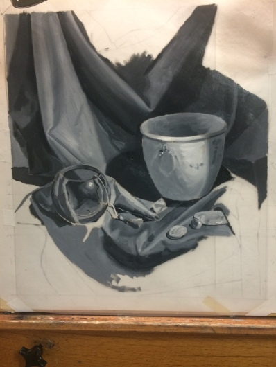 green-cloth-and-bowl-value-painting-unfinished