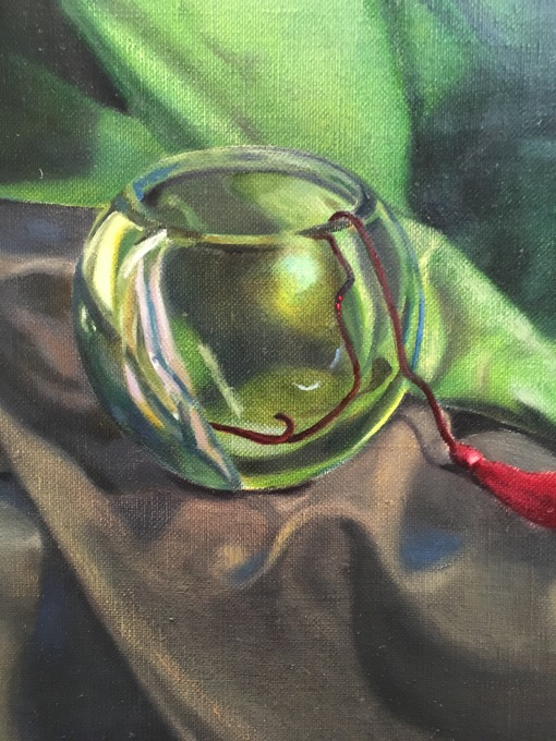 Green Cloth- Green bowl, more details.JPG