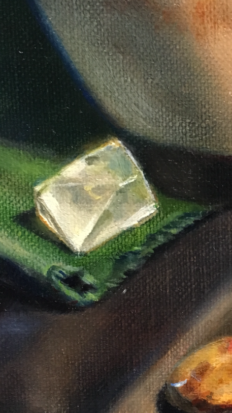 Green Cloth- Yellow Crystal- final detail
