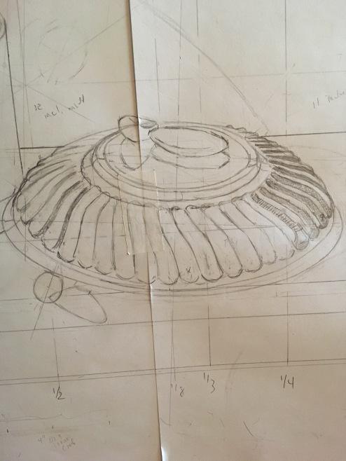 Orange Box & Silver Bowl-drawing