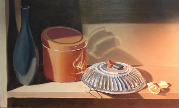 Silver Bowl and Orange Box-First glazes