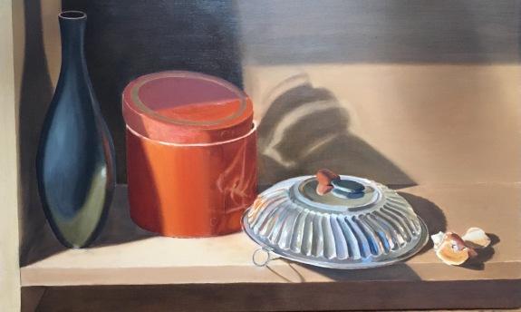 Silver Bowl and Orange Box-Second Glaze