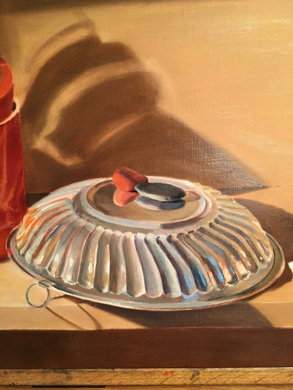Silver Bowl and Orange Box- Silver Bowl detail