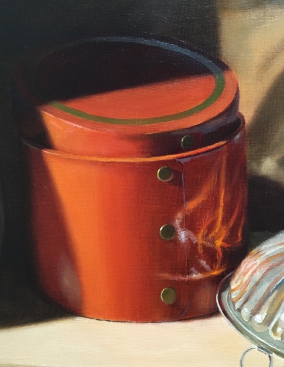 Silver Bowl and Orange Box- Refining box