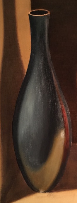 Silver Bowl & Orange Box-Black vase 1