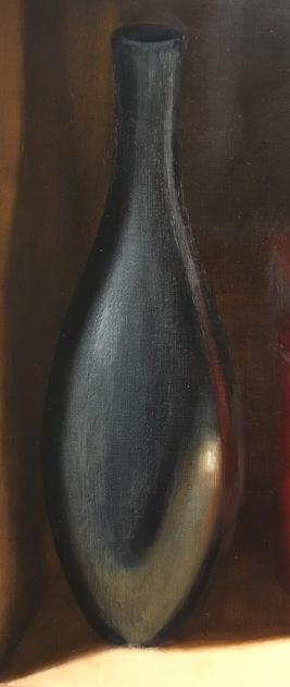 Silver Bowl & Orange Box- Black vase 2