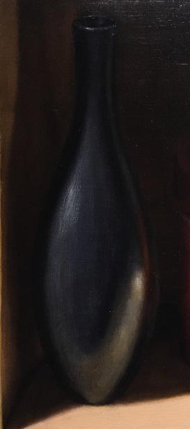 Silver Bowl & Orange Box- Black vase 4