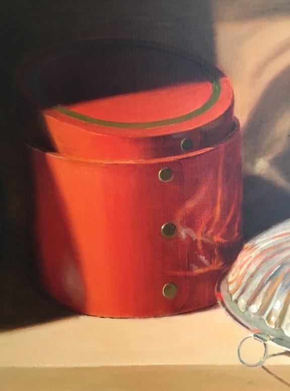 Silver Bowl & Orange Box- refining orange box
